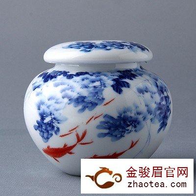 瓷罐储存金骏眉茶叶